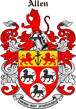 Allen family crest