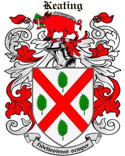 Keating family crest