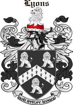 LYONS family crest