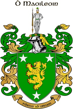 Malone family crest