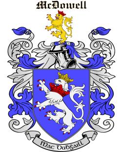 MCDOWELL family crest