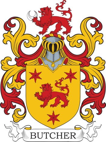 BUTCHER family crest